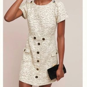 Moulinette Sours Colleen Cream Shift Dress Size 10